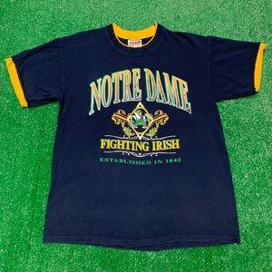 Vintage 90s Notre Dame Fighting Irish Shirt